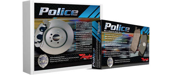 Police Brake Pads and Rotors