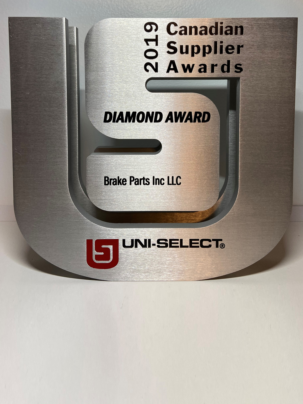 Brake Parts Inc Recognized by Uni-Select with the Diamond Award